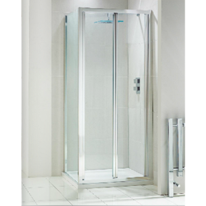 Frontline Aquaglass+ drift Bi Fold Shower Door 4mm Glass 900mm