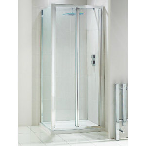 Frontline Aquaglass+ drift Bi Fold Shower Door 4mm Glass 800mm