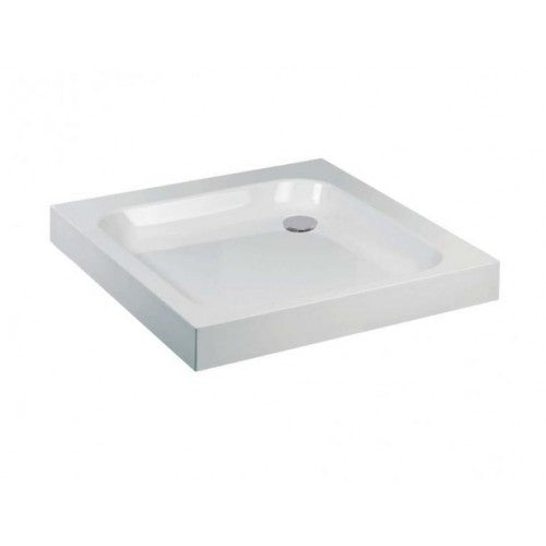 Frontline Aquaglass Square Easy Plumb Shower Tray 760 x 760 Plus Waste
