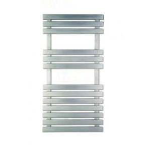 White 550mm Wide Eastbrook Alento Ceramic Shelf And Steel Towel Rail