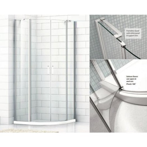 Citylux Frameless Saloon Quadrant Enclosure 1000mm
