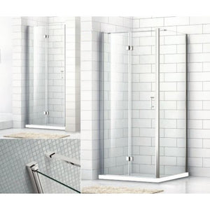 Bathroom Solutions Citylux Frameless Bifold Door 900mm