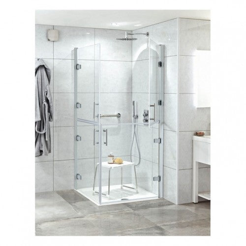 Phoenix Ambulant Hinged Shower Door 900mm