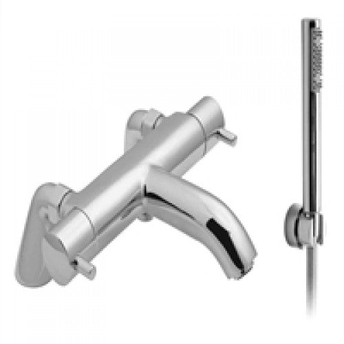 Vado zoo thermostatic bath shower mixer pillar mounted & kit