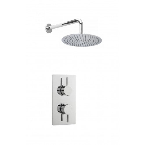 Cruze Concealed Modern Shower Pack with Valve & Fixed Round Head