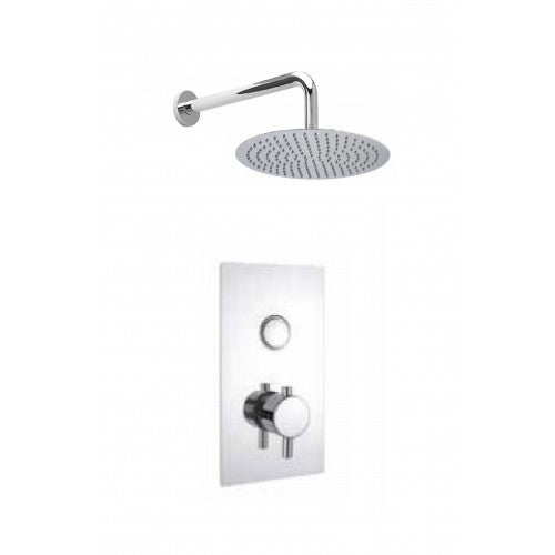 Cruze Concealed Shower Pack with Valve And Fixed Round Head Push Button
