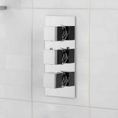 Cubik Square Triple Shower Valve