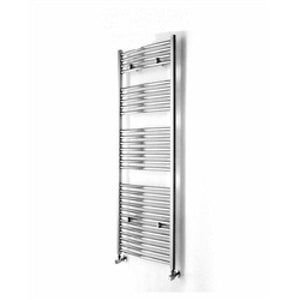 Arley loco 700mm x 500mm curved heated towel warmer - chrome