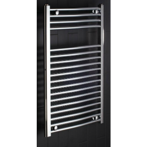 Frontline curved central heating towel warmer 1500mm x 450mm