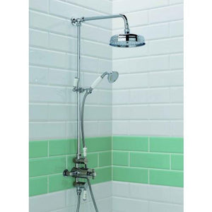 ALLIANCE DUNBAR THERMOSTATIC PERIOD SHOWER VALVE AND TRADITIONAL HEAD WITH FIXED RAIL KIT