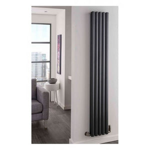 TRC Ellipsis Vertical Double Designer Radiator 1400 x 300mm