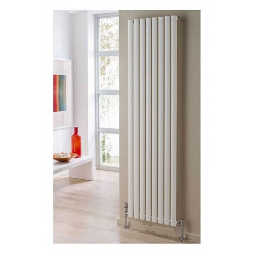 TRC Ellipsis Vertical Double Designer Radiator 1200 x 600mm