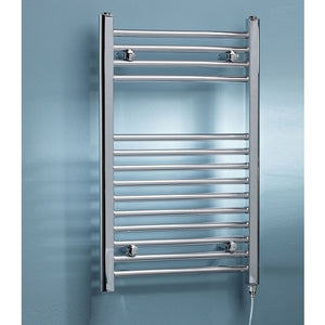 Kartell Curved Electric Towel Rail On/Off 800mm 500mm Chrome