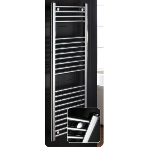 Frontline flat central heating towel warmer 700mm x 600mm Chrome
