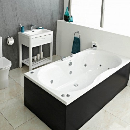 Phoenix Bari Double Ended Bath Amanzonite 1800 x 900mm Whirlpool System 2