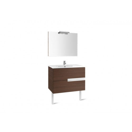 Roca Victoria-N 800 Pack ( Pack (base unit, basin, mirror and spotlight)) Gloss White 855842806