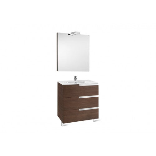 Roca Victoria-N 800 Pack (base unit,basin, mirror and two spotlights) Gloss Anthracite Grey 855847153