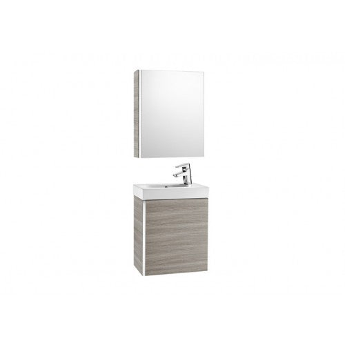 Roca Victoria Mini 450 Pack with cabinet mirror (base unit, basin and cabinet mirror) Textured Grey 855866156