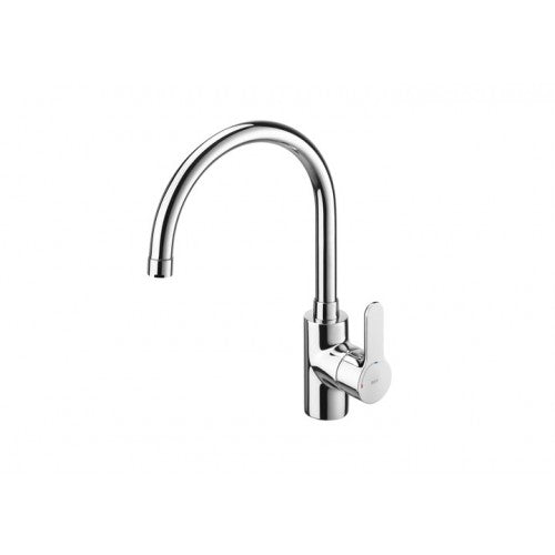 Roca L20 Kitchen sink mixer with high swivel spout and aerator, Cold Start 5A8409C00