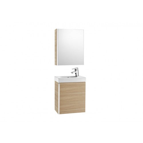 Roca Victoria Mini 450 Pack with cabinet mirror (base unit, basin and cabinet mirror) Textured Oak 855866155