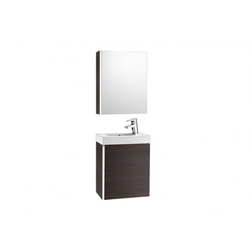 Roca Victoria Mini 450 Pack with cabinet mirror (base unit, basin and cabinet mirror) Textured Wenge 855866154