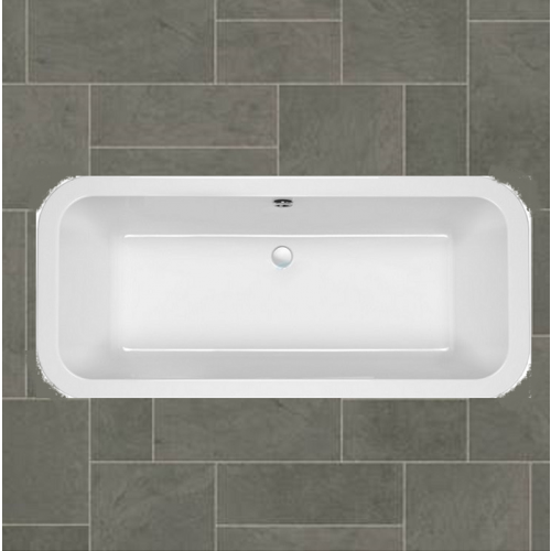 Carron Halcyon Square 1750mm x 800mm Free Standing Bath Carronite (White)