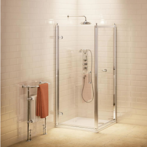 Burlington 760mm Hinged Shower Door and 760mm Side Panel