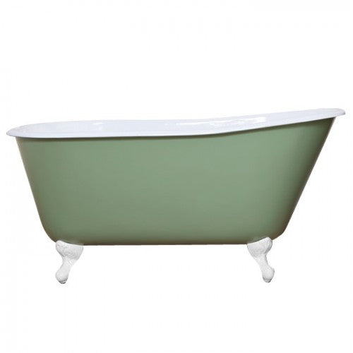 JIG Lille 0TH Cast Iron Roll Top Bath (1450x700mm) with Feet
