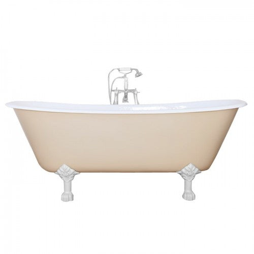 JIG Berwick Cast Iron Roll Top Bath (1720x680mm) with Feet