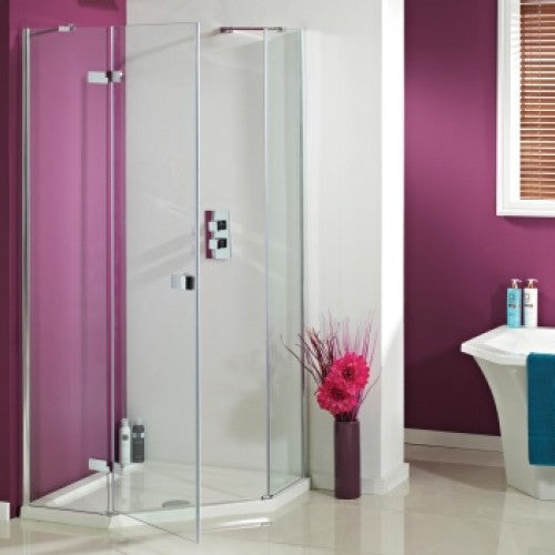 Phoenix Idyllic 8mm Neo Hinged Door Left hand including tray and waste 900mm