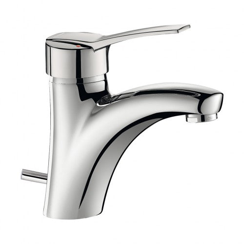 Delabie SECURITHERM EP BIOSAFE Solid pressure balancing basin mixer with pop up waste 2520TEP