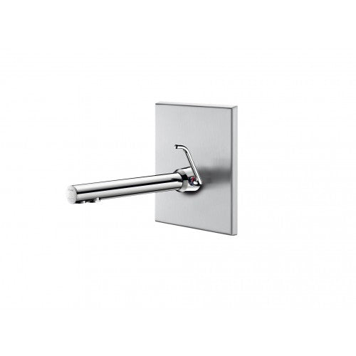 Delabie Binoptic Recessed electronic basin tap With Stainless Steel Wall Plate 379ECML