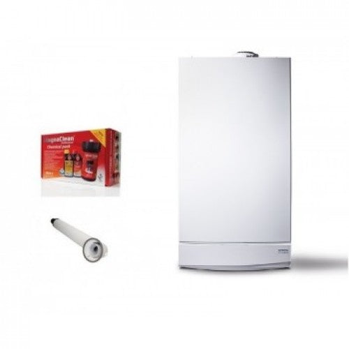 Potterton Titanium 24HE Combi Boiler With horizontal flue,Clock & Loop With Pack