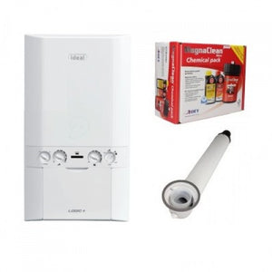 Ideal Logic 30Kw Combi Boiler & Horizontal Flue Kit and Pack