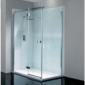 April Prestige2 Frameless Hinged Shower Door 1000 mm Left Hand