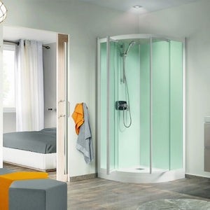 Kinedo Kineprime Glass Corner Installation Quadrant Cubical With Pivot Doors 800mm X 800mm