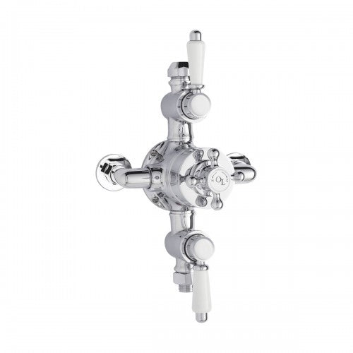 Old London Triple Exposed Thermostatic Shower Valve