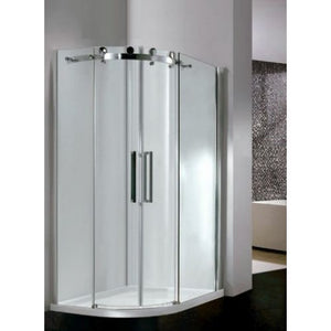 Bathroom Solutions Citylux Frameless DB Double Door Offset Quadrant 1200 x 900mm R/H