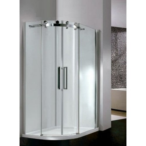 Bathroom Solutions Citylux Frameless DB Double Door Offset Quadrant 1200 x 800mm L/H