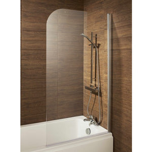 Alliance Leven round profile over-bath shower screen