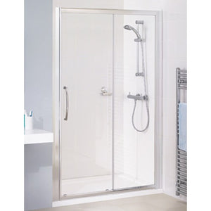 Lakes Classic Semi Framed Sliding Shower door 2000mm Silver.