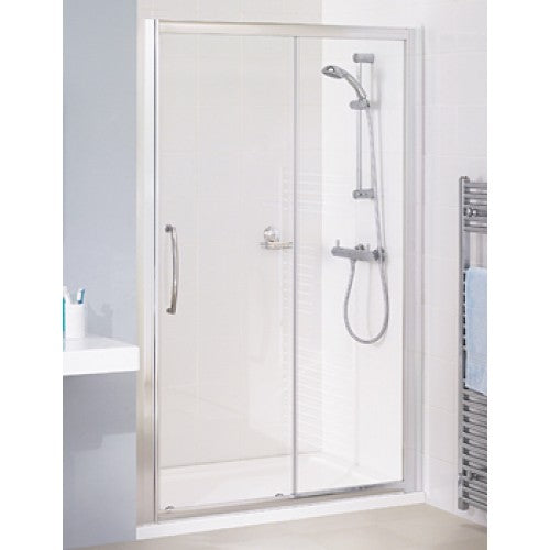 Lakes Classic Semi Framed Sliding Shower door 1500mm White.