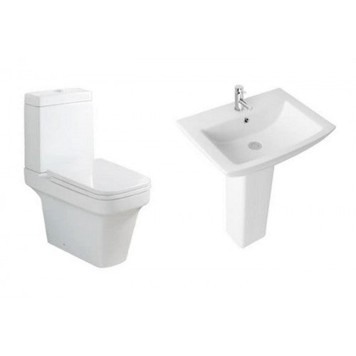 Eastbrook Minima CC WC Suite & Soft Close Seat ,Ultima Basin and Pedestal