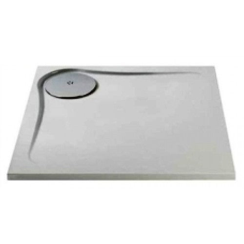 Mx optimum 25mm low level 760mm x 760mm square shower tray & waste