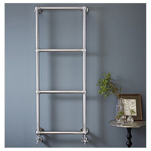 Vogue Ballerina Chromed Brass Wall Mounted Traditional Towel Rail 1575 x 675mm