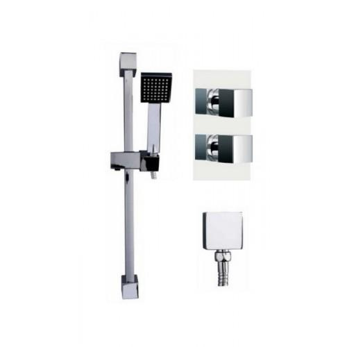 Gallini Concealed Thermostatic Mixer Shower Pack 3