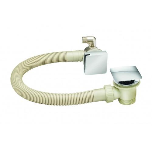 ALLIANCE ASP BATH COMBI FILLER (SQUARE) CLICK WASTE AND OVERFLOW
