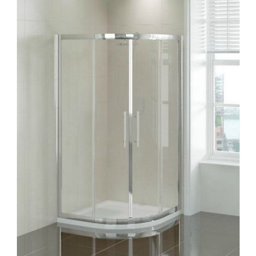 April Prestige 2 Door Offset Quadrant Shower Enclosure 8mm Glass 900 x 760mm