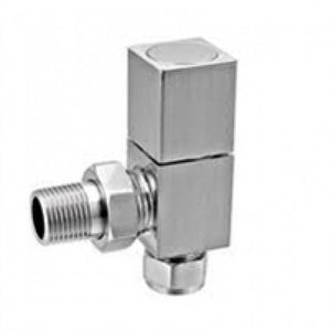 Reina Richmond Chrome Angled Radiator Valves.