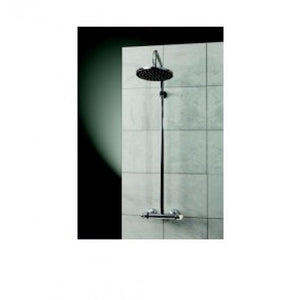 Drum Exposed Thermostatic Bar Mixer Shower with Fixed 8 Overhead